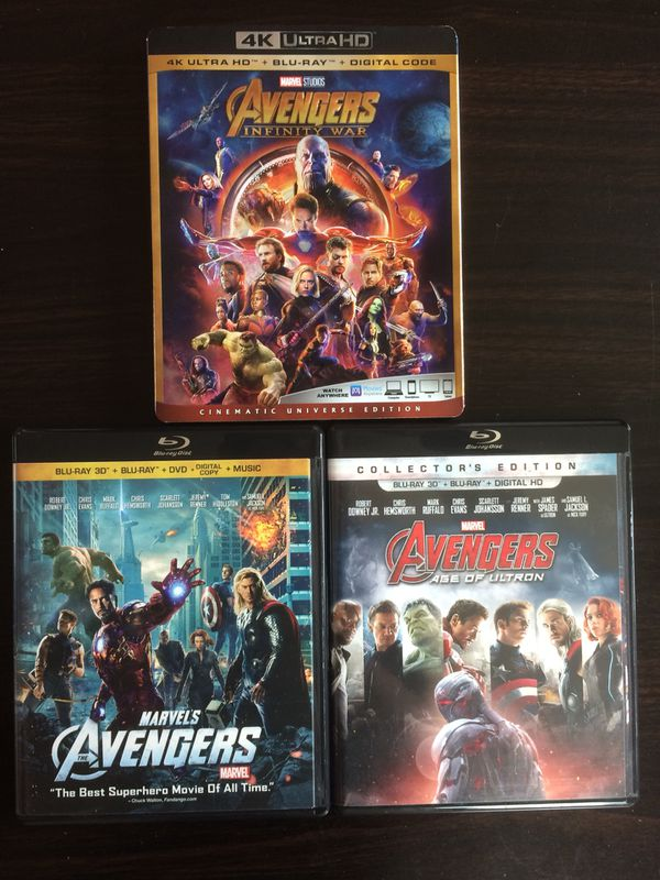 Disney Marvel Harry Potter Movies Bluray And Dvd Collectibles For
