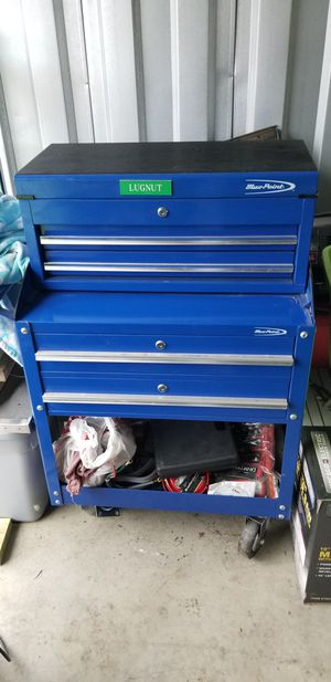 Photo Snap On Blue Point Box and Snap On tools.