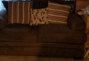 Two piece living room set with pillows for Sale in Braintree, MA