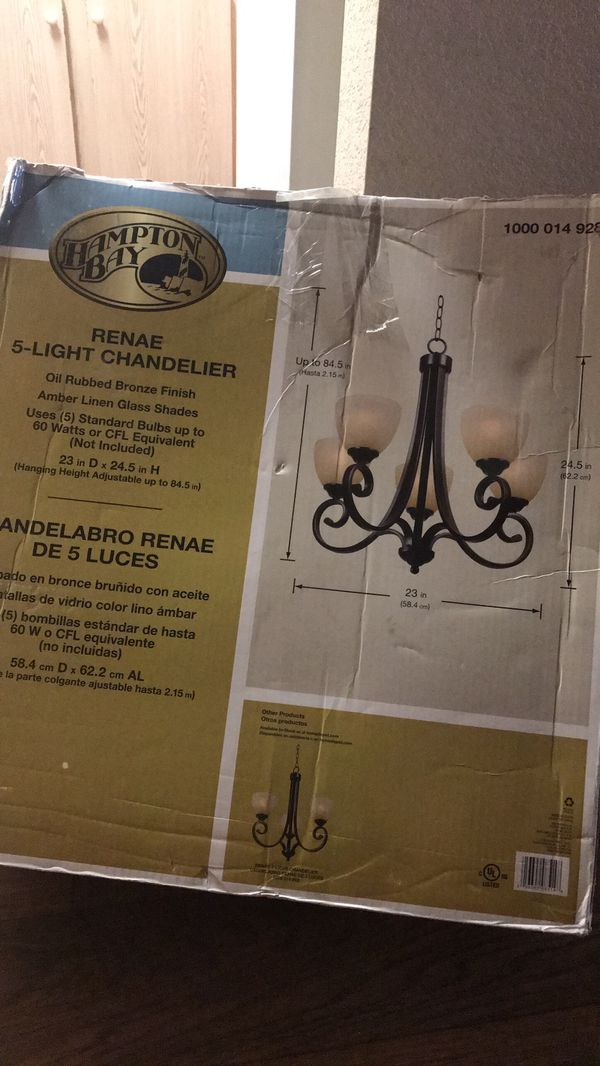 Hampton Bay Renae 5 Light Chandelier Model 1000014928 Household In Mesa Az Offerup