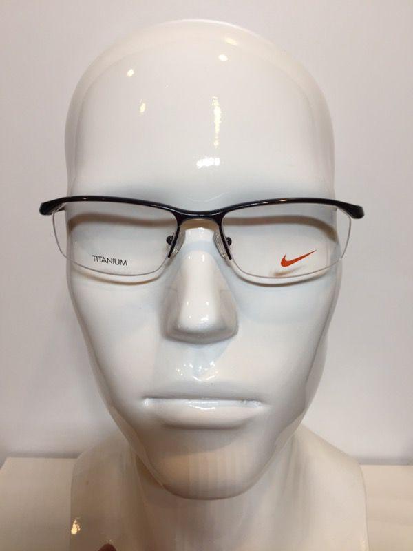 01b716c99e0 Nike 6037 001 Gunmetal Titanium Semi-Rimless Eyeglasses 53mm for ...