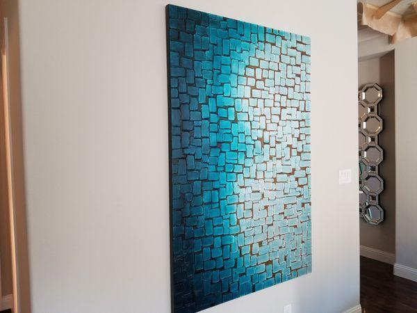 Z Gallerie Nuances Of Blue Art