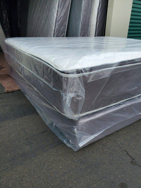 Queen Size New Thick Pillow Top Bed Can Deliver