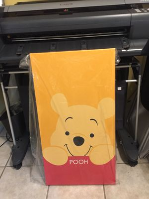 Winnie the Pooh Large Canvas print for Sale in Riverbank, CA