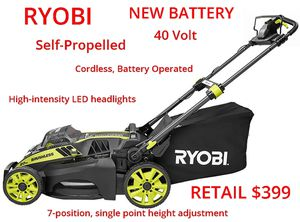 Photo RYOBI 20 in. 40-Volt Brushless Cordless Self-Propelled Mower