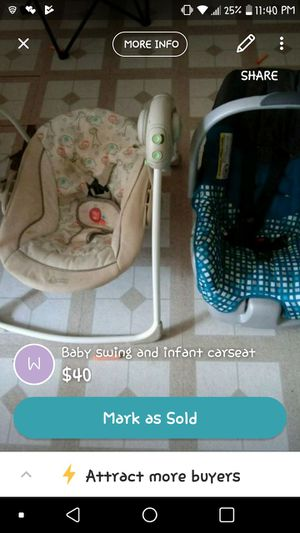 Infant Swing And Car Seat For Sale In Battle Creek MI