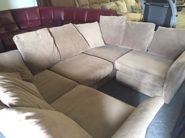 Light Tan Sectional Style Couch For Sale In Fort Worth Tx Offerup