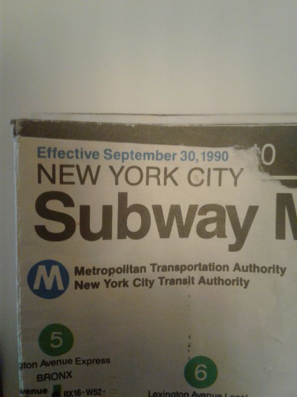 New York City Subway Map September 30 1990.1990 Nyc Mta Subway Map And A Mta Token For Sale In Boca Raton Fl Offerup