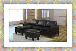 Black sectional brand new free ottoman and delivery for Sale in McLean, VA