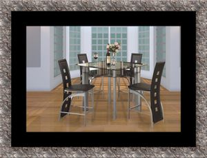 Counter height glass dining table with 4 chairs for Sale in Ashburn, VA