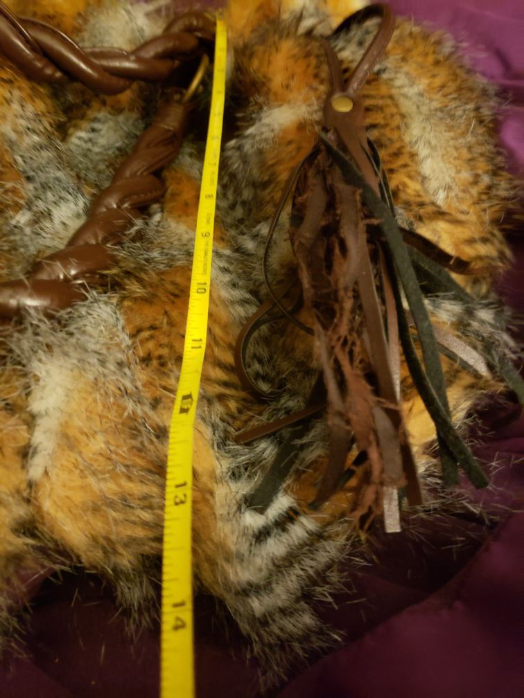 Pheasant Feather & Leather Purse