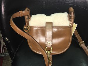 Michael Kors Jamie saddle bag dark caramel for night on town women gift for Sale in Richmond, VA