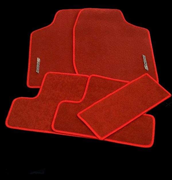 Red Universal Fit Floor Mats With Spoon Sports Emblem
