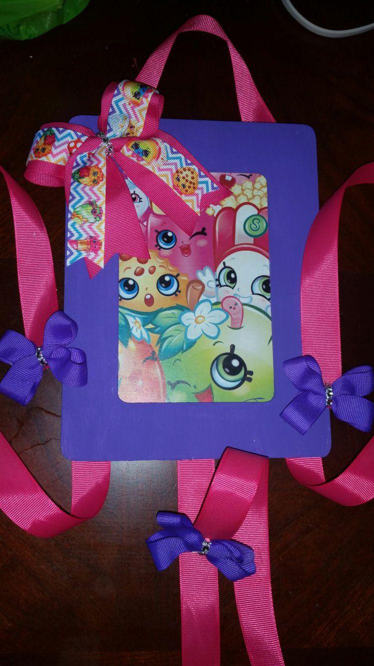 Shopkin birthday mum & bow holder