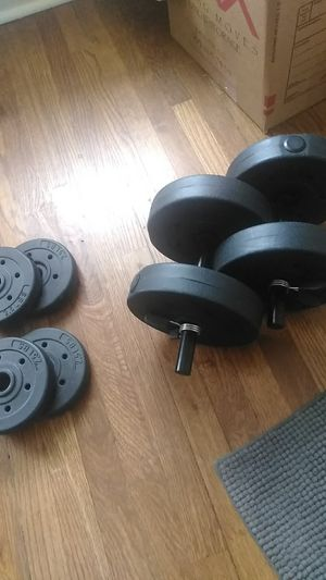Dumbbells with additional weights for Sale in Denver, CO