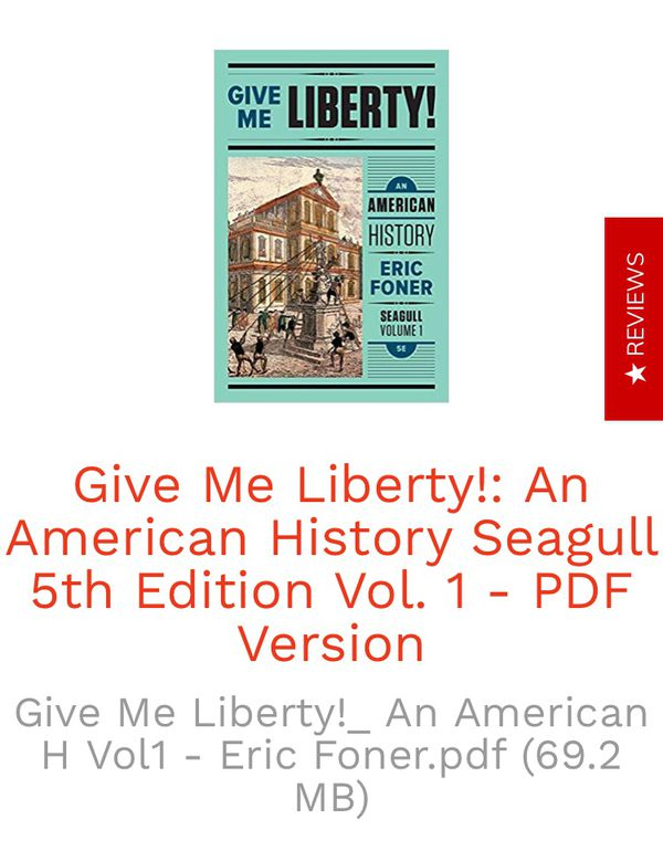 Give me liberty 5th edition eric foner pdf online book for sale in give me liberty 5th edition eric foner pdf online book for sale in los angeles ca offerup fandeluxe Image collections