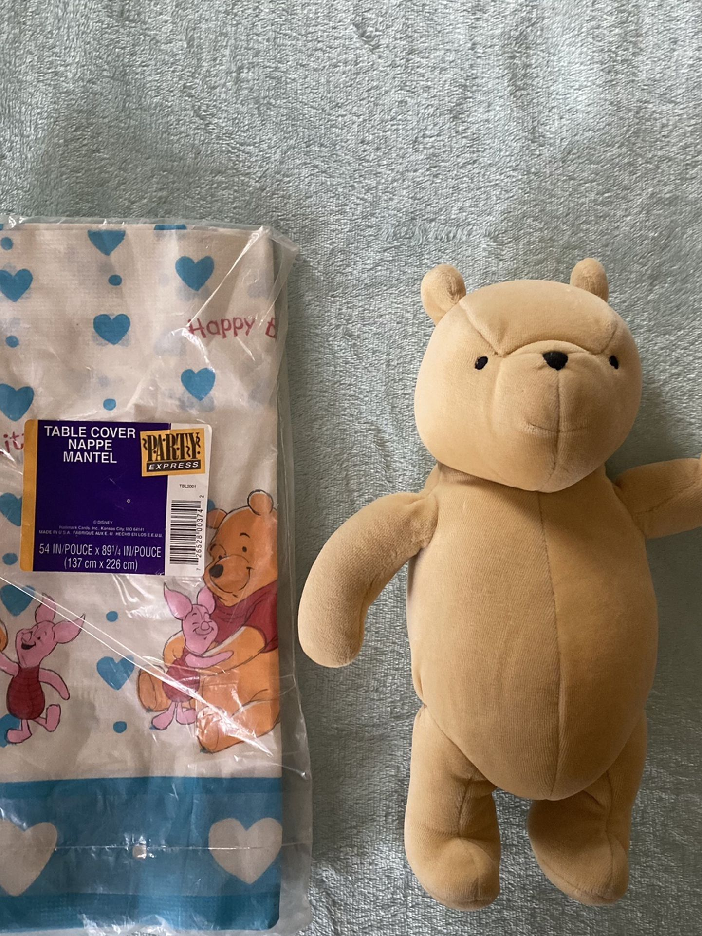 Winnie The Pooh Bear And Table Cover