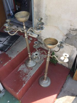 2 silver candlelabras for Sale in San Diego, CA