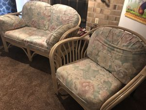 Cane Sofa Set - $100 for Sale in Columbia, MD