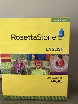 Rosetta Stone Homeschool English for Sale in Bristow, VA