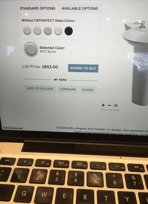 Toto pedestal LPT908N#03 for Sale in Lombard, IL - OfferUp