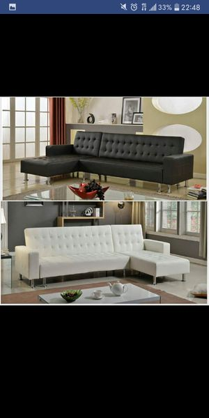 Brand New Black Or White Futon Sectional For In Austin Tx
