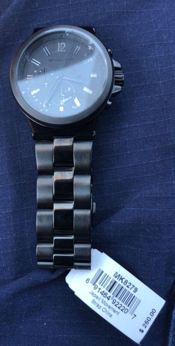 4a595db10a12 Men s Michael Kors Dylan Black Steel Watch MK8279 for Sale in Auburn ...