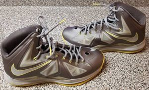 805799ed5 Nike Air Lebrons James X 10 Canary Yellow Diamond Sneakers Size 11 for Sale  in Queens