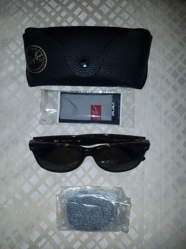 0b5f032c032 Ray Ban Wayfarer Classic Sunglasses RB2132 902 58 55-18 Green Classic