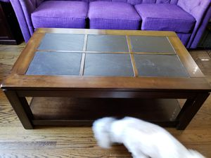 FREE Wooden, stone-top center table (pick-up only) for Sale in Takoma Park, MD