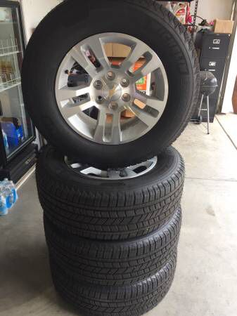 Brand New Factory Chevy Gmc 18 Inch Wheels And Tires With A