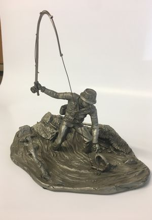 Photo Franklin mint pewter, first strike at waters edge