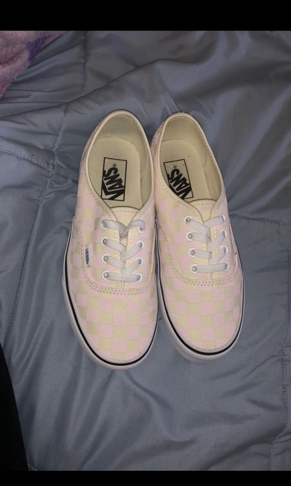 dfdaedb6ce Checkered vans (chalk pink) for Sale in Carrollton