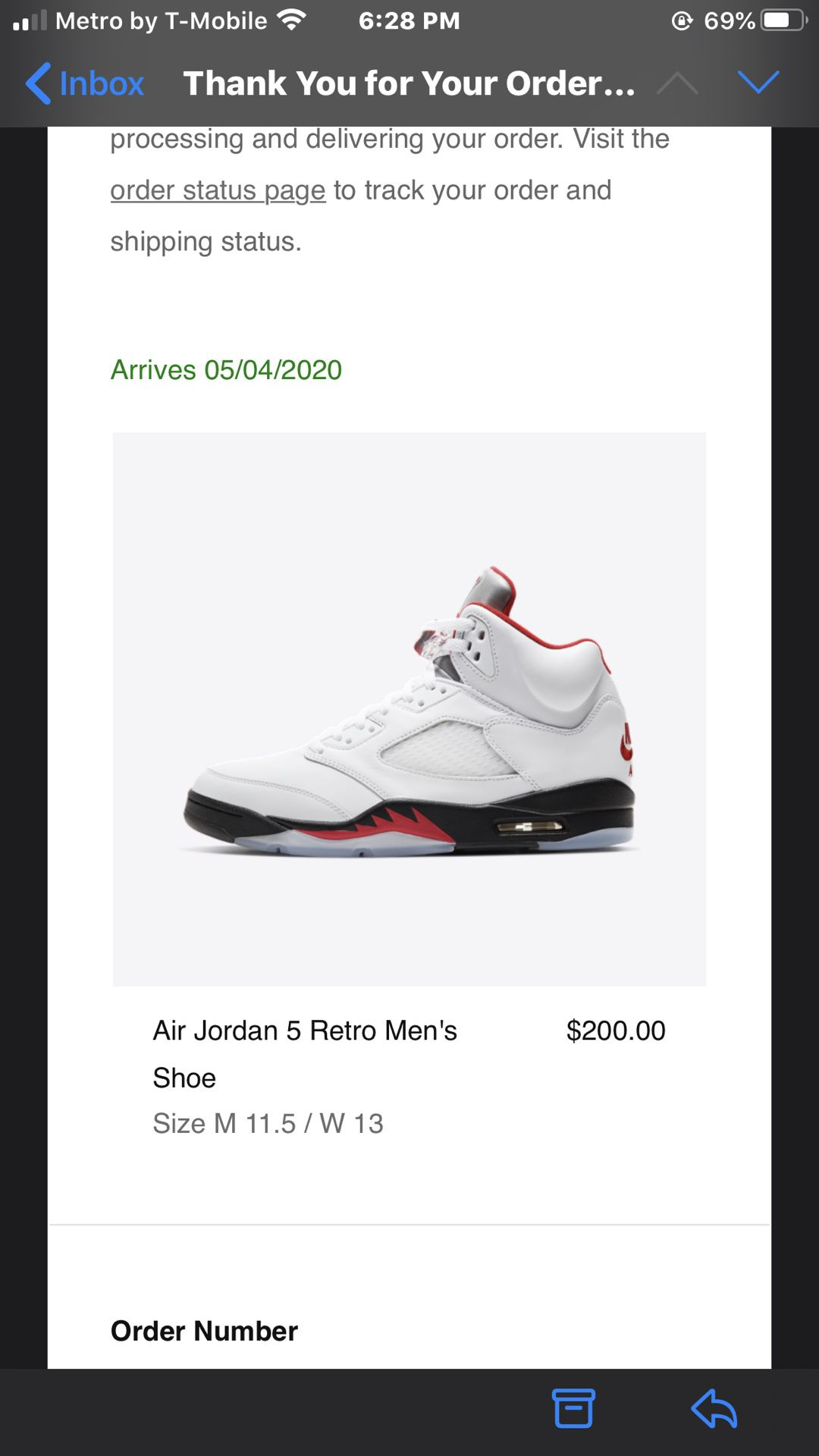 Fire Red Jordan 5