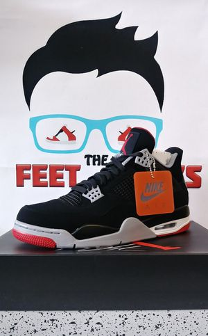 7e31fb90dbd AIR JORDAN 4 RETRO BRED MEN SHOES SIZE 9 DS NEW WITH BOX $280 for Sale