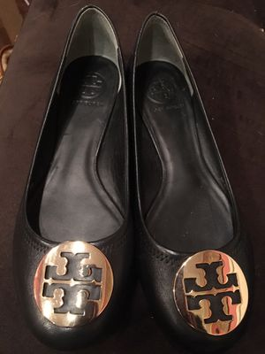 Tory Burch Black Leather Flats for Sale in Washington, DC