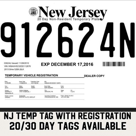 temporary tags for sale in newark nj offerup. Black Bedroom Furniture Sets. Home Design Ideas