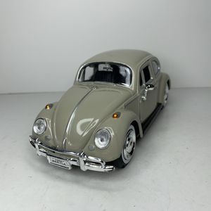 Photo NEW Large 1966 VW Bug Volkswagen Beetle Car Toy Diecast Metal Model Scale 1/24 1:24 124 Vintage 1960s Classic