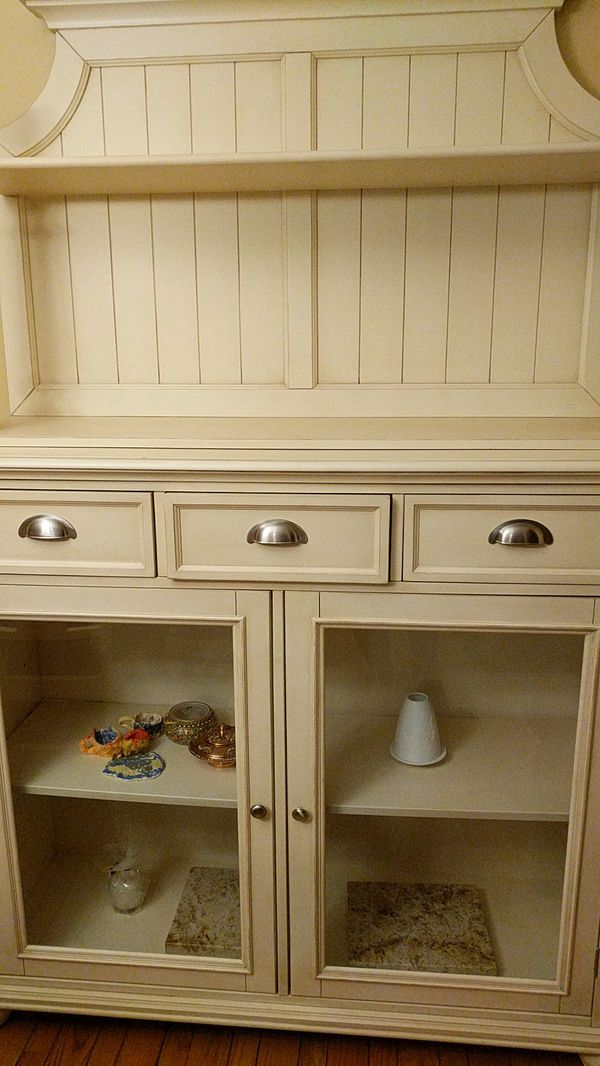 Dinning room server with a hutch China cabinet for Sale in ...