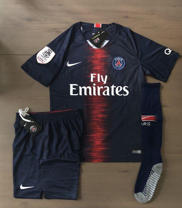 6e262f0c6 PSG Paris Saint Germain Neymar Jr.  10 Soccer Jersey Nike Jersey+shorts+socks  MEN