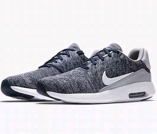 Nike Air Max Modern Flyknit College Navy  White-Wolf Grey Shoes (876066 400) 301187546