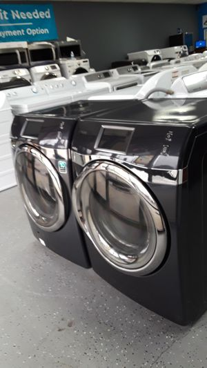 Photo SAMSUNG WASHER AND DRYER SET WIFI SPEED SPRAY POWER FOAM VRT PLUS ENERGY STAR FRONTLOAD ONIX COLOR