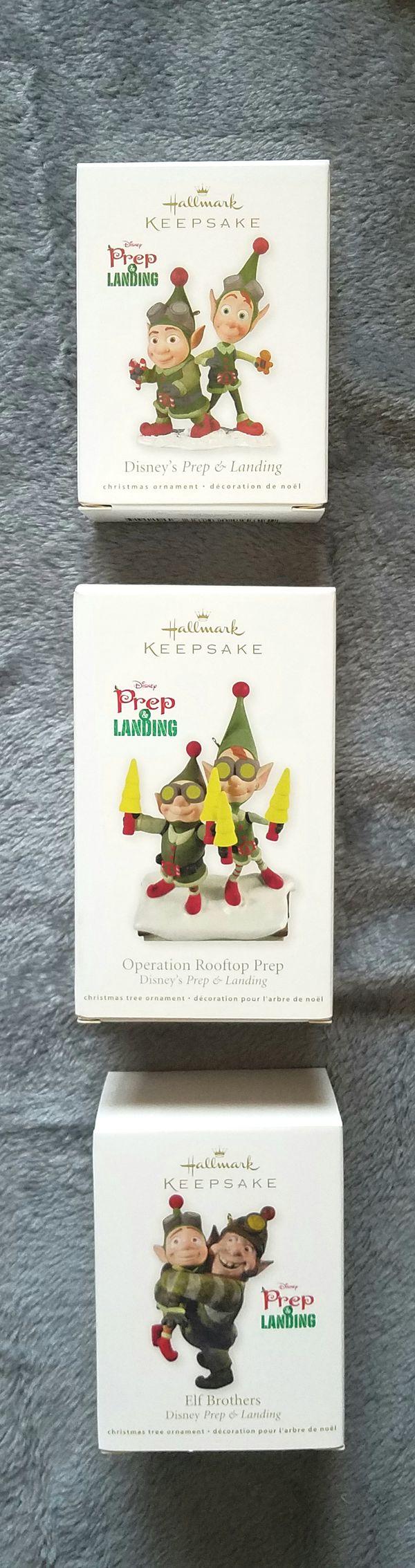 DISNEY HALLMARK PREP AND LANDING CHRISTMAS ORNAMENT LOT (Games ...