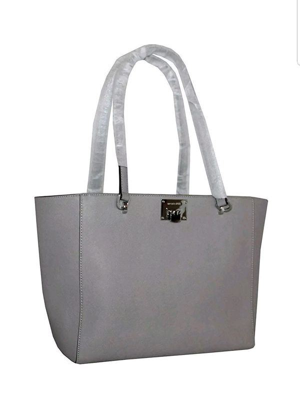 24a9c6f4e107a MICHAEL KORS TINA 35S8ST4T3L PEARL GREY LG TOTE LEATEHR for Sale in ...