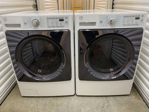 Photo Kenmore elite steam washer and electric dryer set