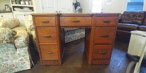 Real Solid Wood Knee Hole Desk for Sale in Frederick, MD
