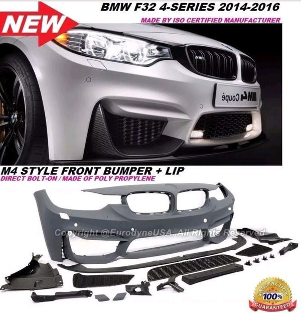 BMW 14-17 4 Series F32 M4 style Front bumper Cover w/ Lip Body kit with  Sensor holes (Pdc) for Sale in Los Angeles, CA - OfferUp