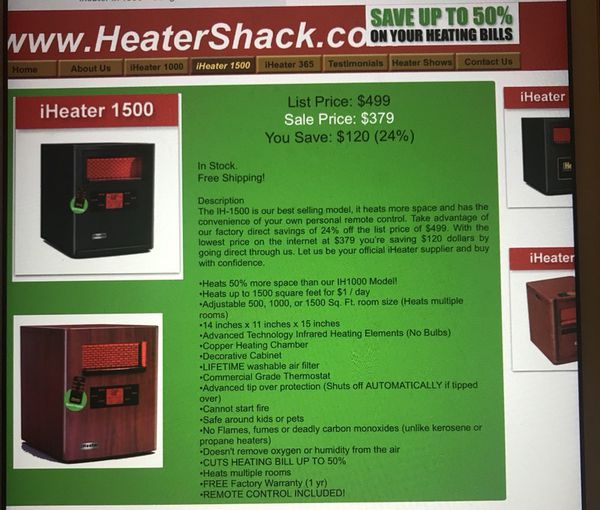 iheater electric heater heats 1500 sf for sale in maplewood nj
