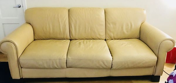 Italian Chateau D Ax Leather Sofa Made In Italy For Sale In Sunnyvale
