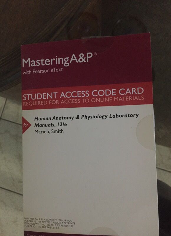 Human Anatomy Physiology Lab Manuals With Pearson Etext Books